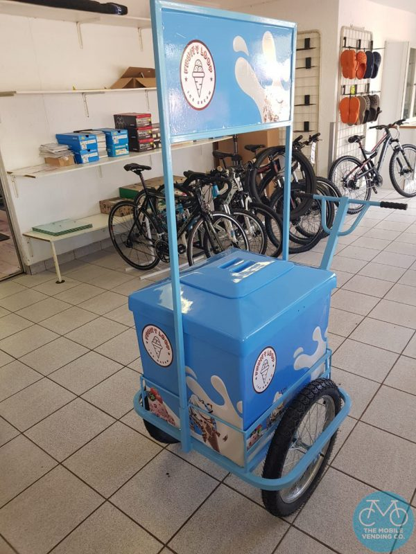 Branded Ice-Cream Push-Cart made to order