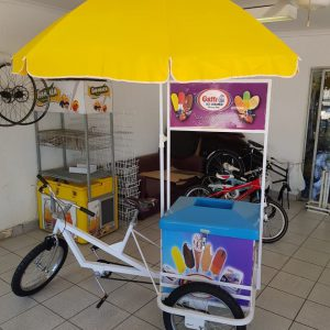 Ice-Cream Tricycle With Umbrella