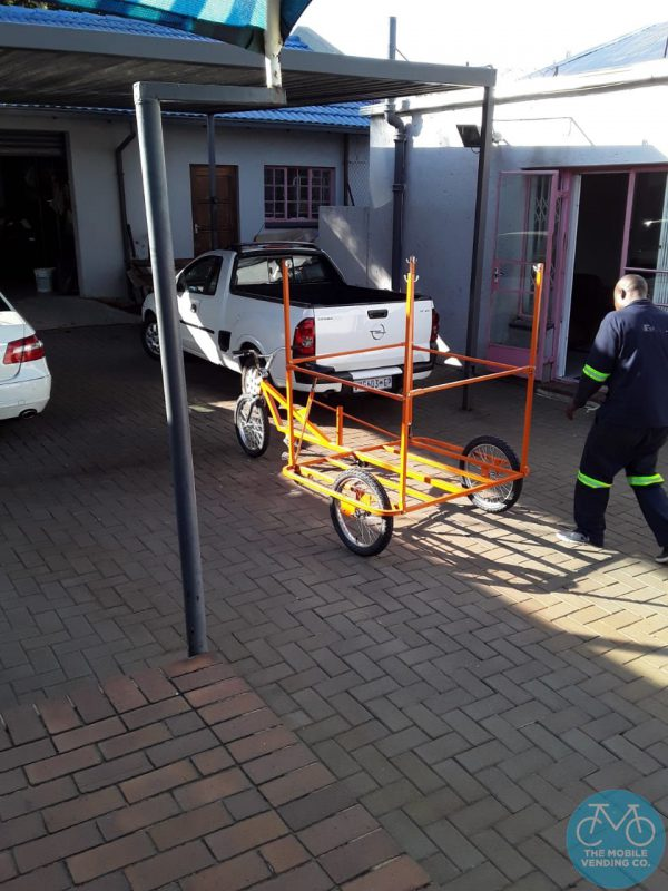 Tricycle with Waste Collection Adaptation